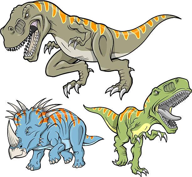Dinosaur Set vector art illustration