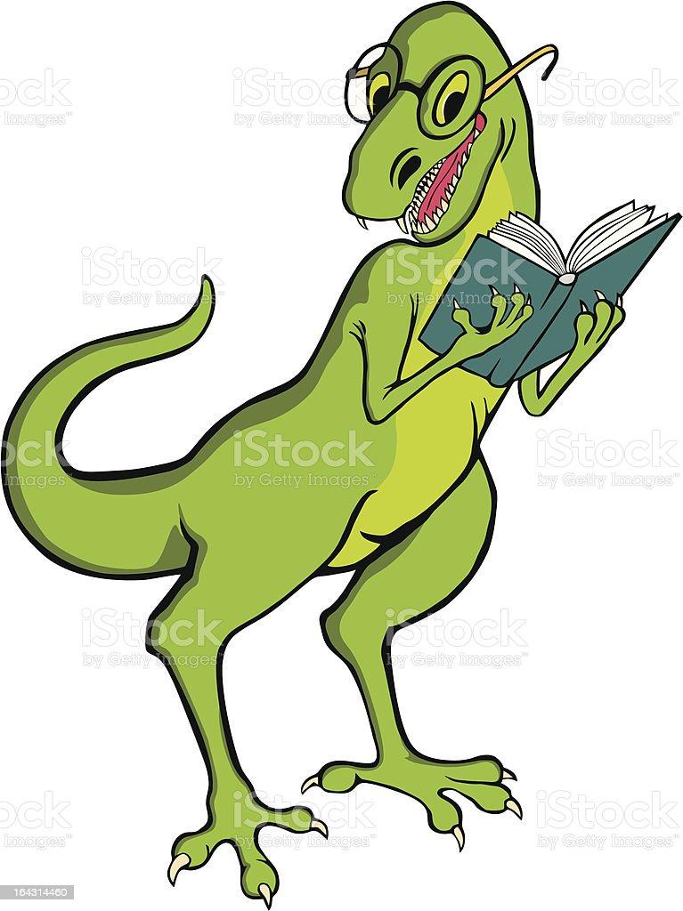 royalty free cartoon dinosaur reading clip art vector images rh istockphoto com Dinosaur Clip Art Dinosaur Prints