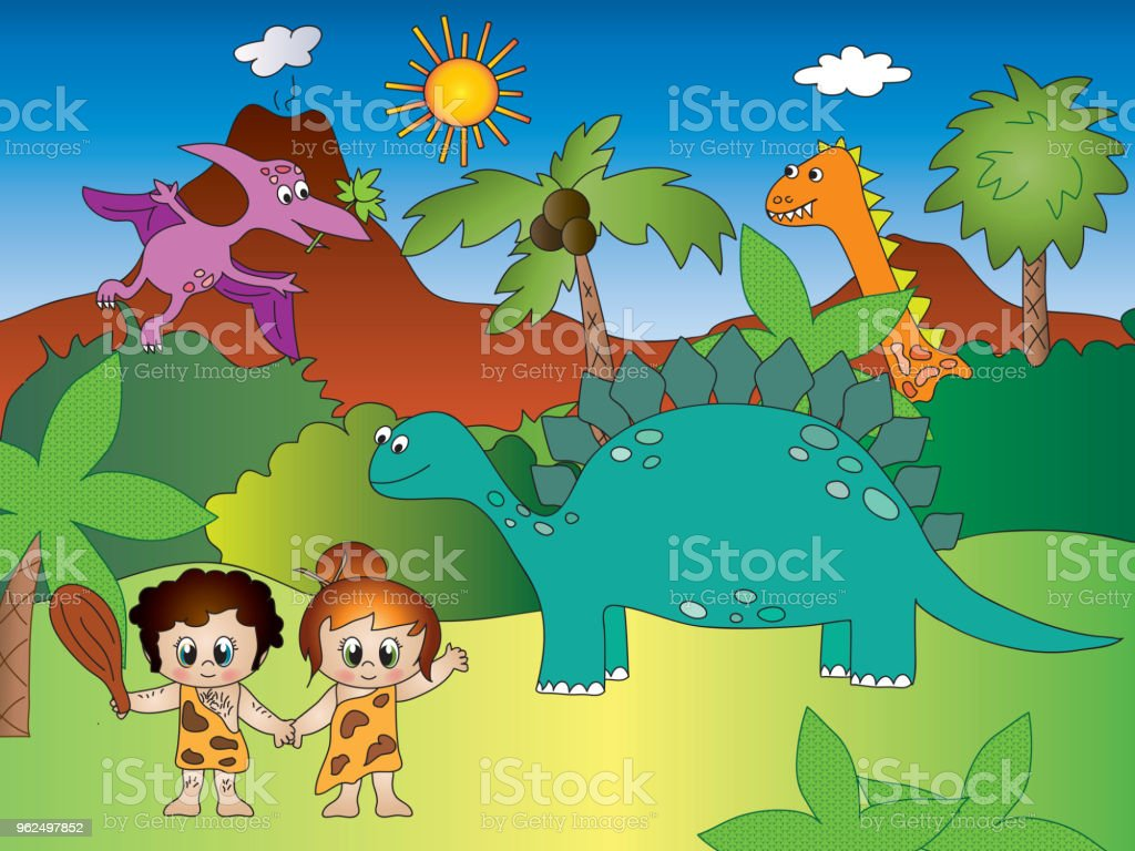 dinosaurs - Ilustração de Adulto royalty-free
