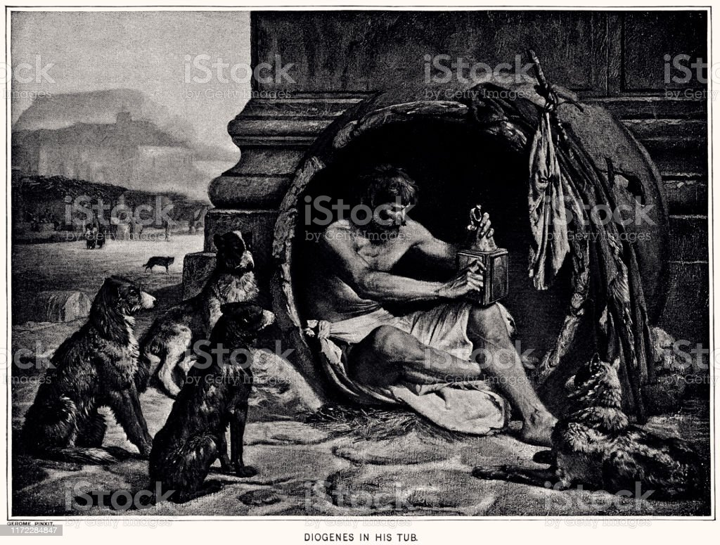 Diogenes Of Sinope Xxxl Stock Illustration Download Image