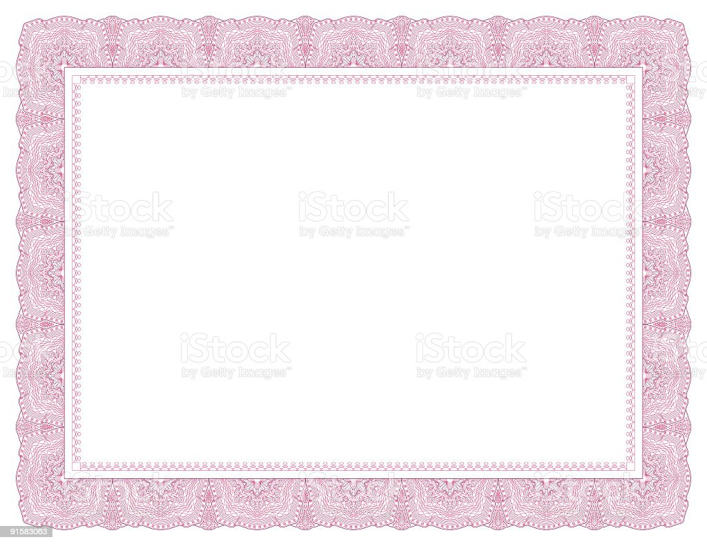 Diploma Frame Letter Red Stock Vector Art Amp More Images Of