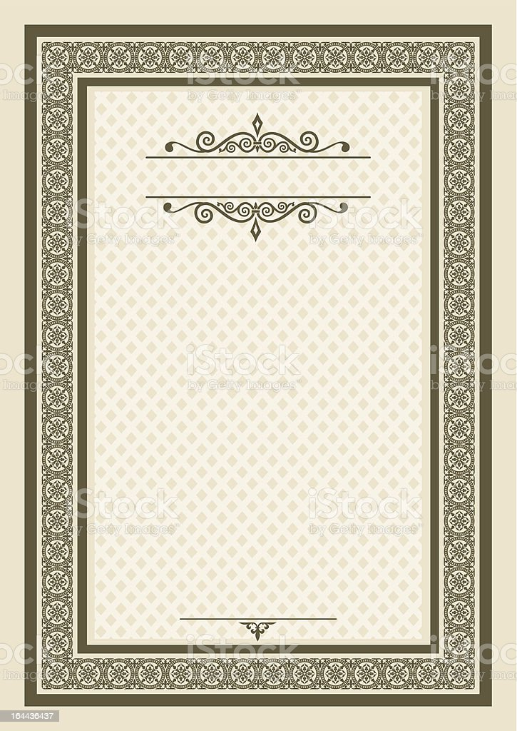Diploma template vector art illustration