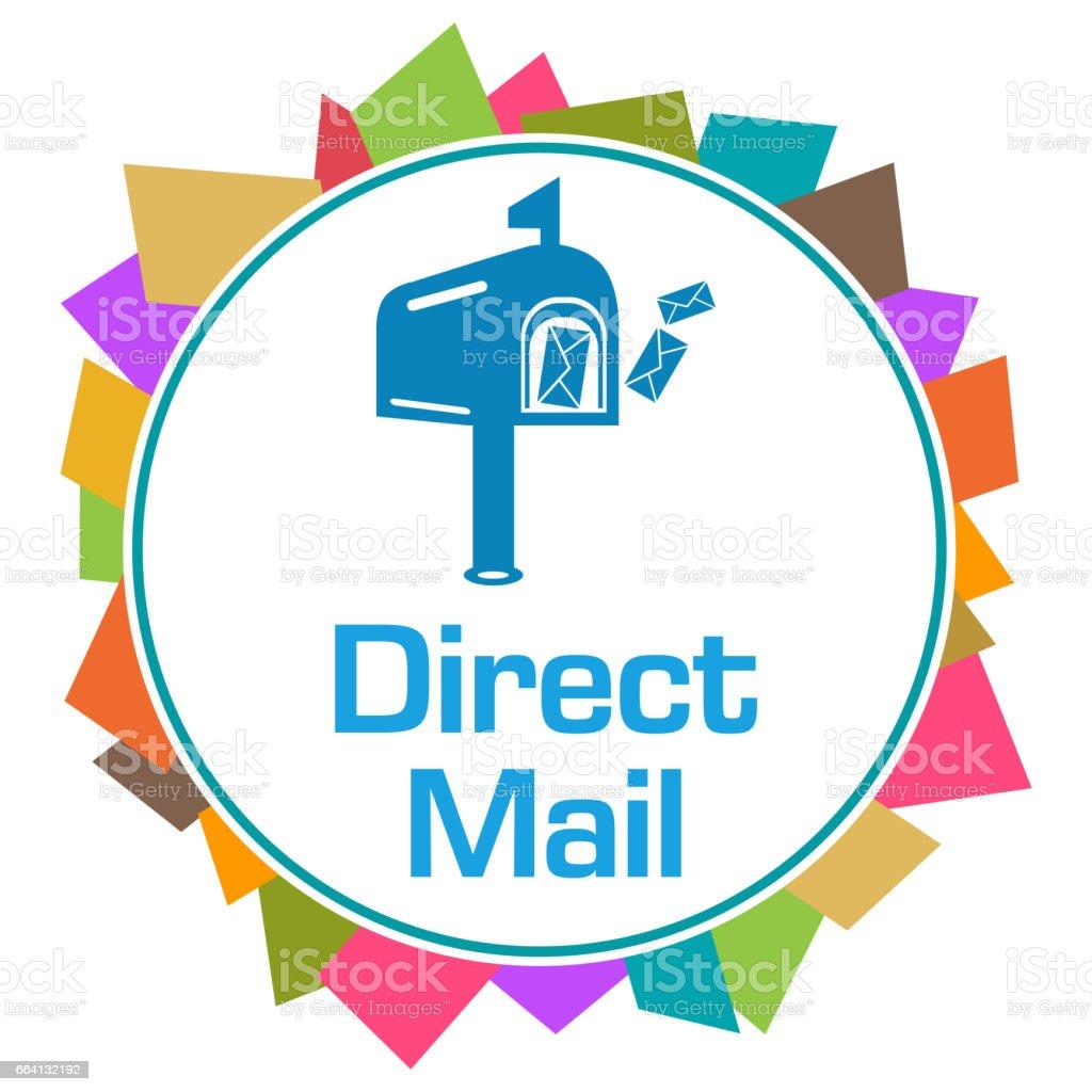 Direct Mail Colorful Random Shapes Circle direct mail colorful random shapes circle - immagini vettoriali stock e altre immagini di busta royalty-free