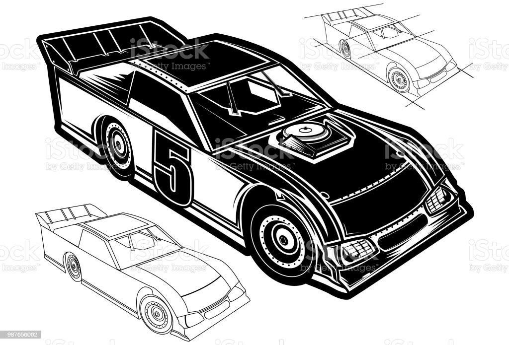 f87cdc70 Dirt Track Race Car Stock Vector Art & More Images of Car - iStock