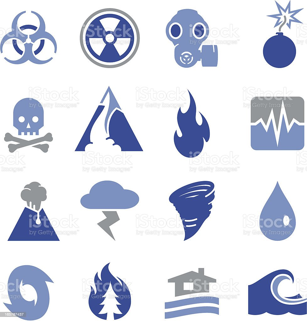 Disaster Icons - Pro Series vector art illustration
