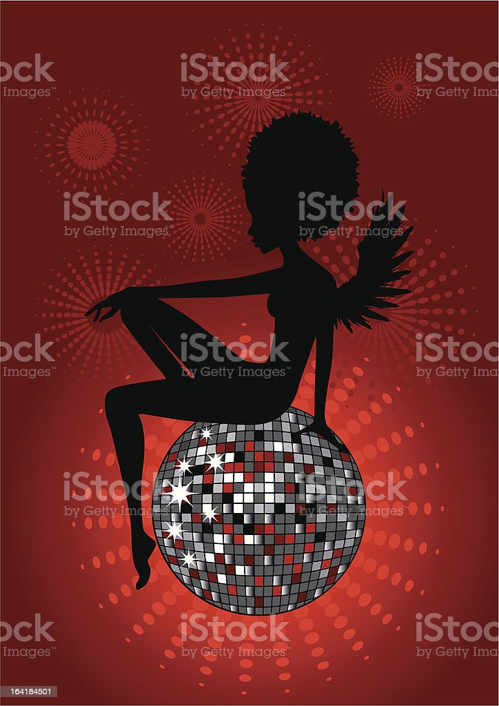 Disco Angel vector art illustration