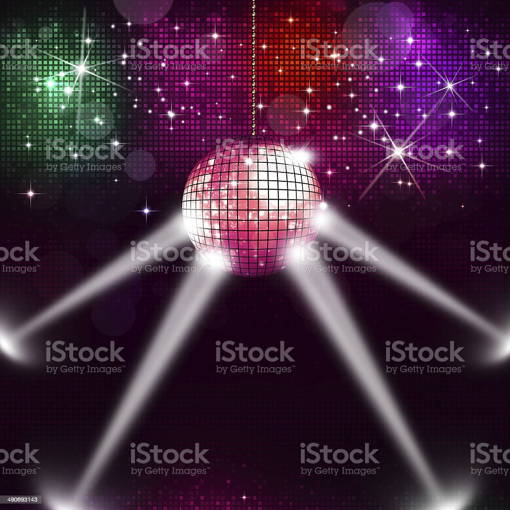 Disco Ball Music Background royalty-free stock vector art