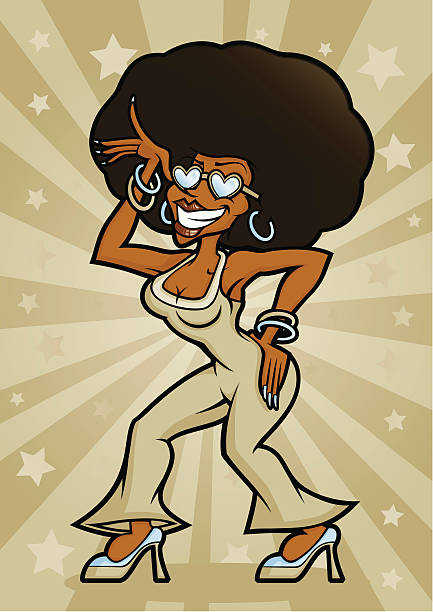 disco dancing diva office party woman - office party stock illustrations, clip art, cartoons, & icons