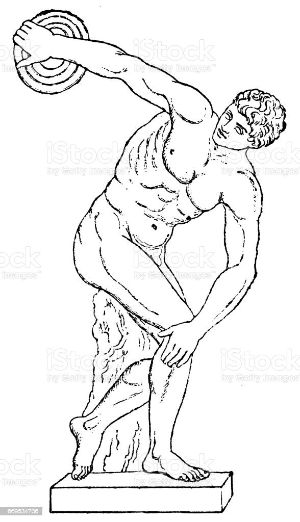 Discobolus vector art illustration