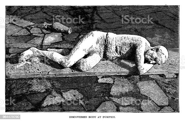 Vetores de Corpo Descoberto Em Pompeia e mais imagens de Adulto