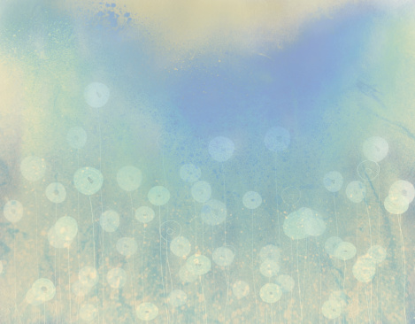 Discreet background with watercolor flowers
