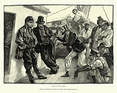 istock Discussion between the crew of Victorian sailing ship, 19th Century 1251976059