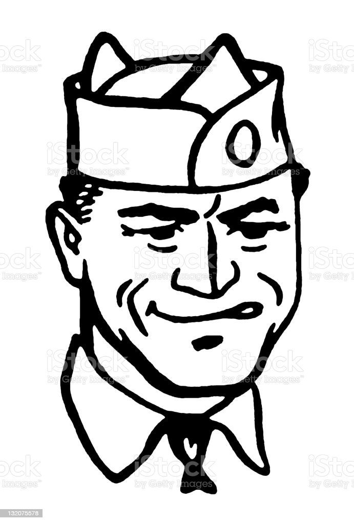 Disgruntled Man in Hat royalty-free disgruntled man in hat stock vector art & more images of adult
