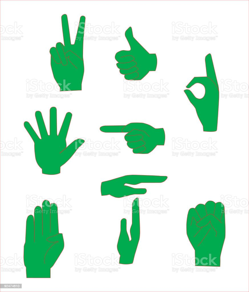 Diverse hand signs in vector format royalty-free diverse hand signs in vector format stock vector art & more images of achievement