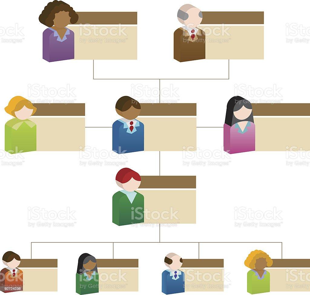 Diversity Chart royalty-free stock vector art