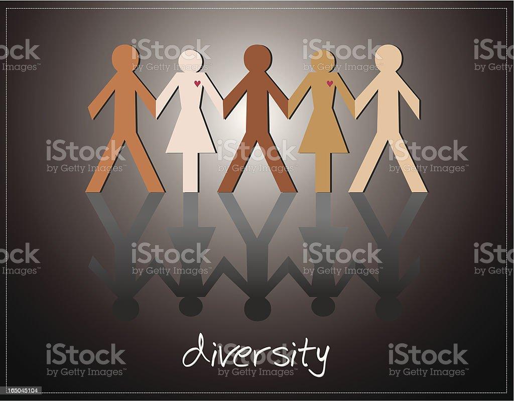 Diversity royalty-free stock vector art