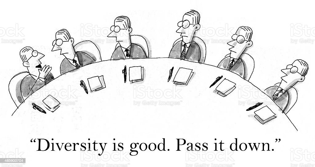 Diversity is Good vector art illustration