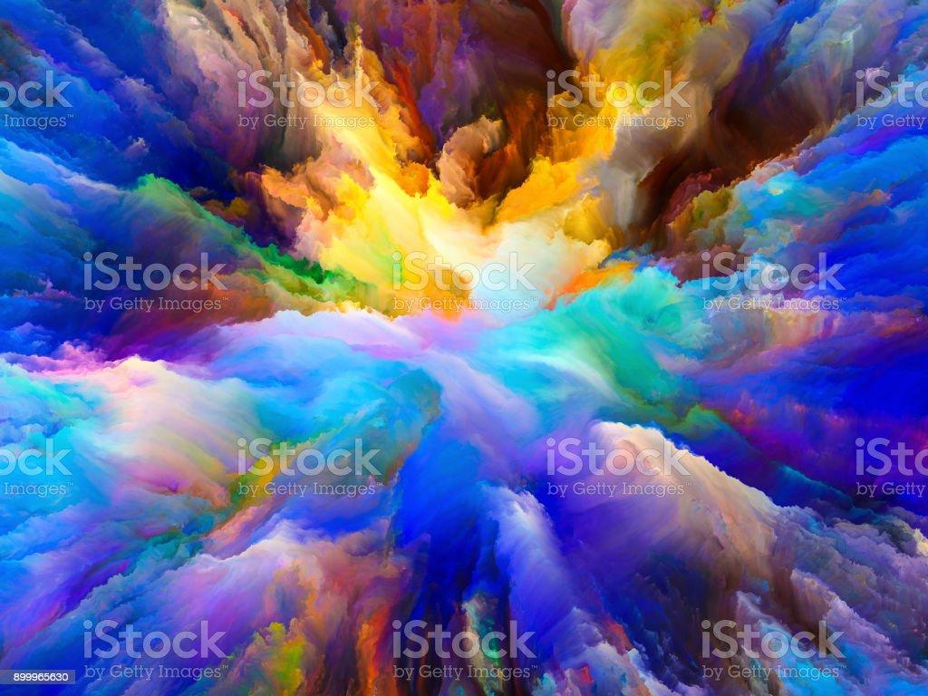 Diversity of Surreal Paint vector art illustration