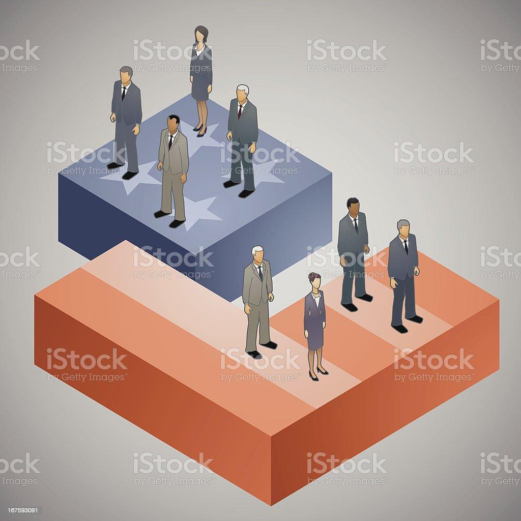 Divided America Illustration vector art illustration