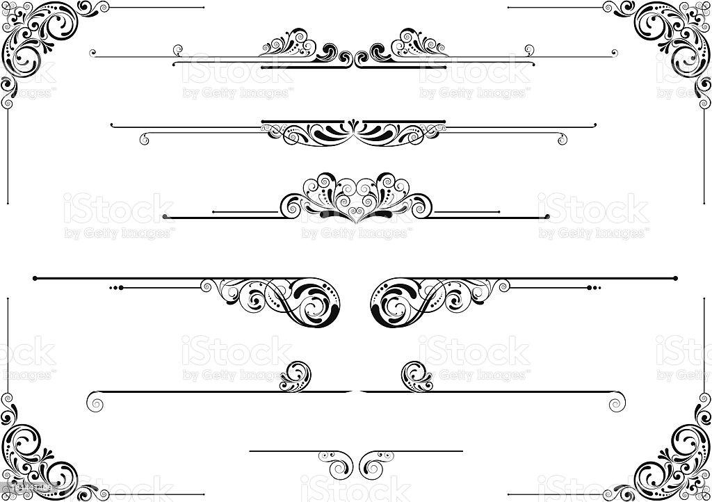 Divider and corner floral design royalty-free stock vector art