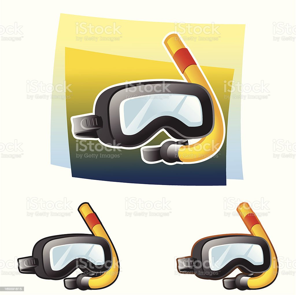 Diving goggles royalty-free stock vector art