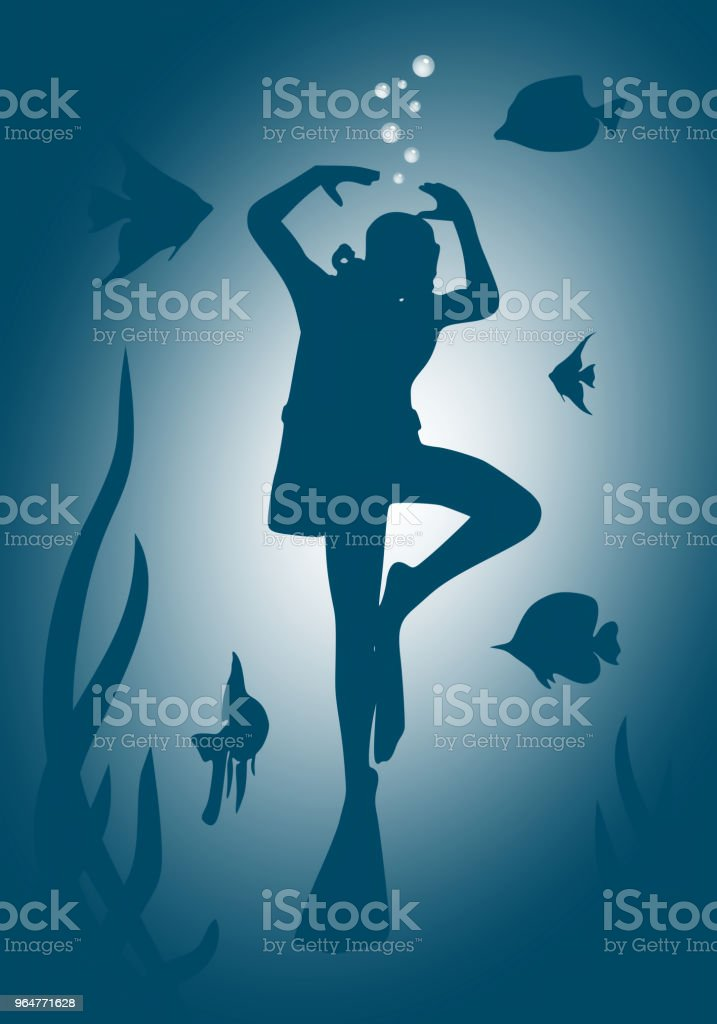 Diving sport concept royalty-free diving sport concept stock illustration - download image now