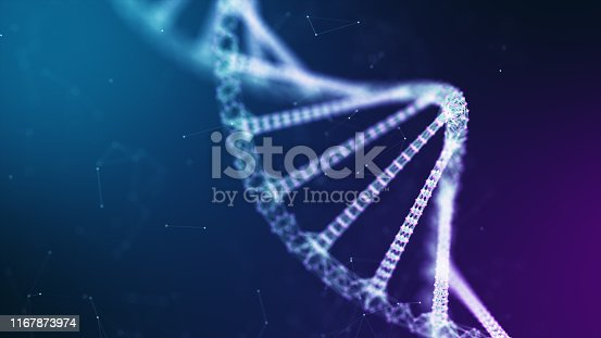 abstract technology science concept, DNA code structure with glow. Science concept background. Nano technology.