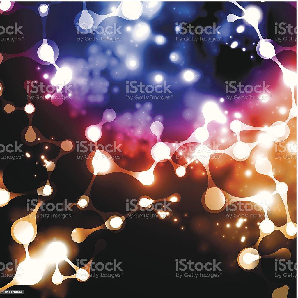 dna molecule abstract neon royalty-free stock vector art