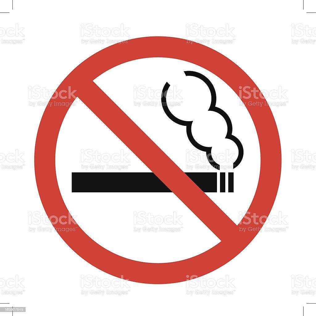 Do not smoke vector sign vector art illustration