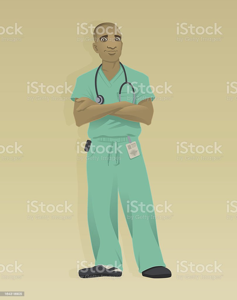 Doctor Green Scrubs royalty-free doctor green scrubs stock vector art & more images of adult