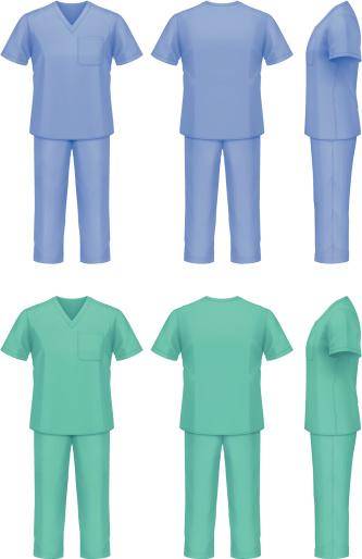 Vector illustration of modern doctors wear.