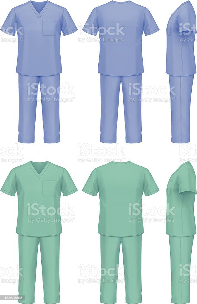 Doctors uniform vector art illustration