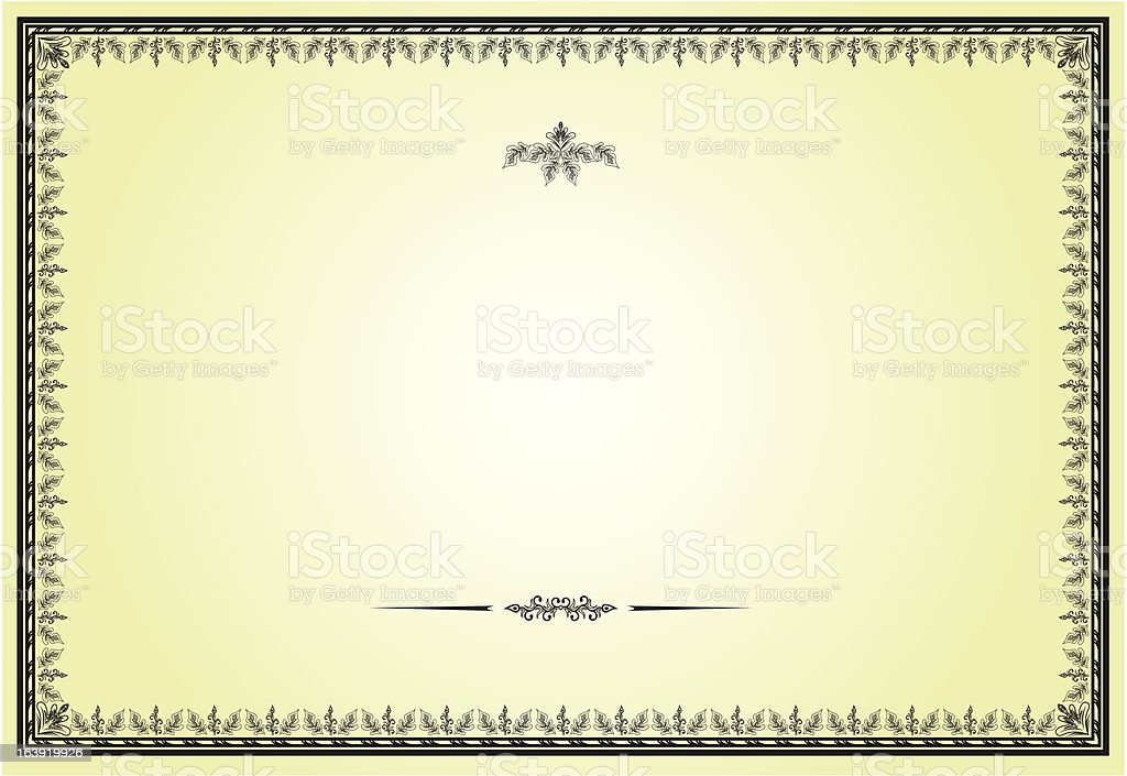 Bien connu Documento Frame Per Diplomi Certificati Contratti Illustrazione  DF43
