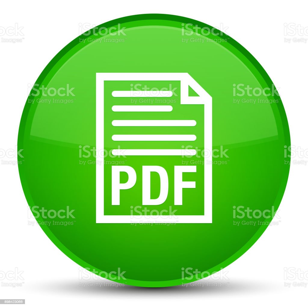 Pdf Document Icon Special Green Round Button Stock Vector Art & More ...
