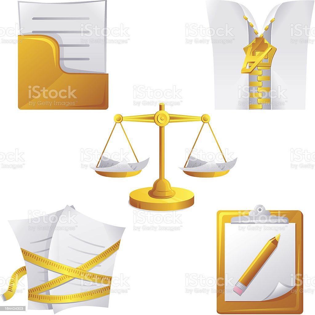 Document icons set royalty-free document icons set stock vector art & more images of balance