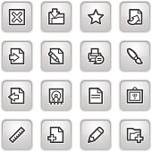 Document web icons, on gray buttons.
