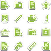 Document web icons, set 2