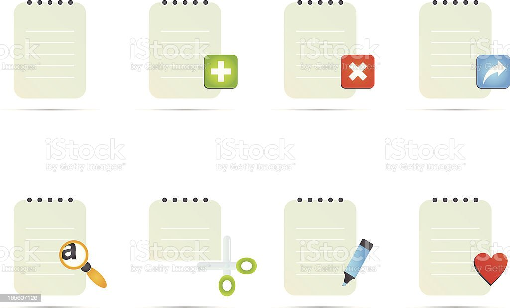 Documents Icon Set royalty-free documents icon set stock vector art & more images of business