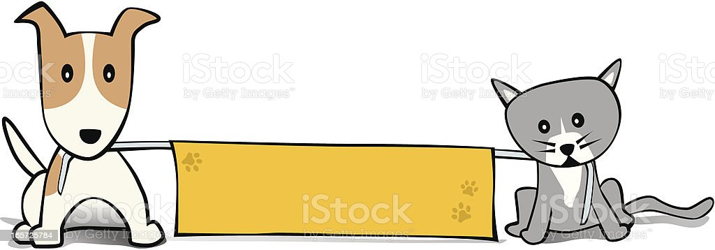 Dog and Cat Banner royalty-free dog and cat banner stock vector art & more images of animal