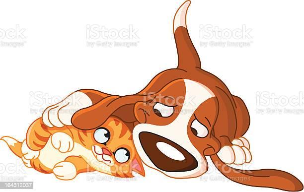 Dog and cat illustration id164312037?b=1&k=6&m=164312037&s=612x612&h=h88j761vfsb4umoo75marzbufosgnfodltxxrj zfbg=