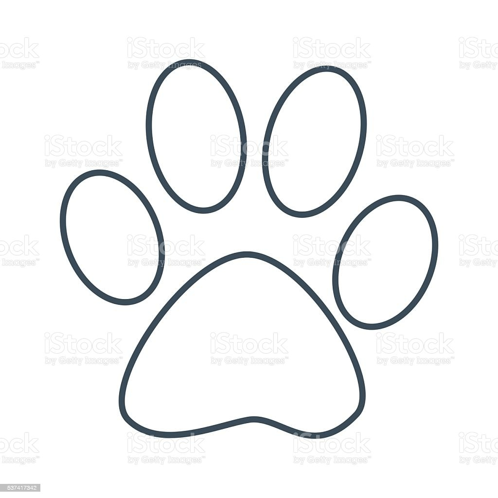 dog foot print icon isolated on white background stock Cat Paw Print Clip Art wild animal paw prints clip art