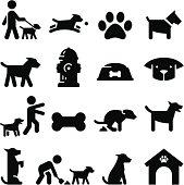 Dog Icons - Black Series