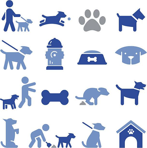 dog icons - pro series - dog treats stock illustrations