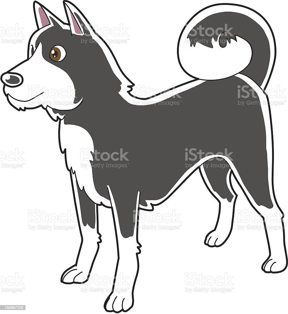 Pies – artystyczna grafika wektorowa