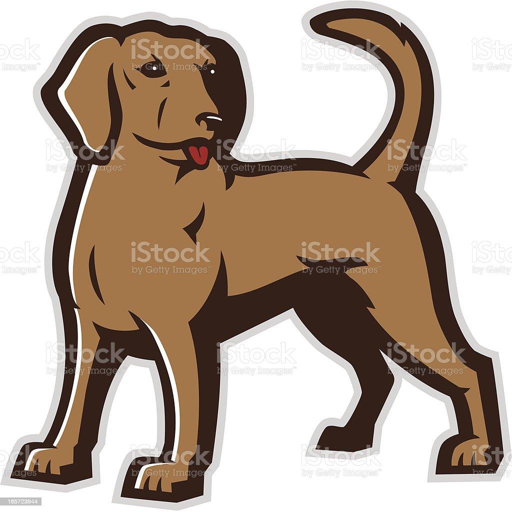 Perro mascota - ilustración de arte vectorial