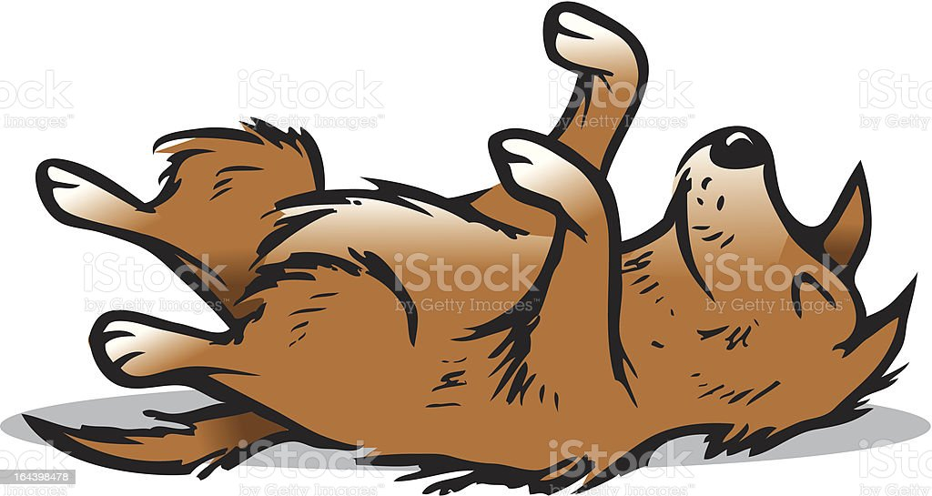 dog playing dead royalty-free stock vector art