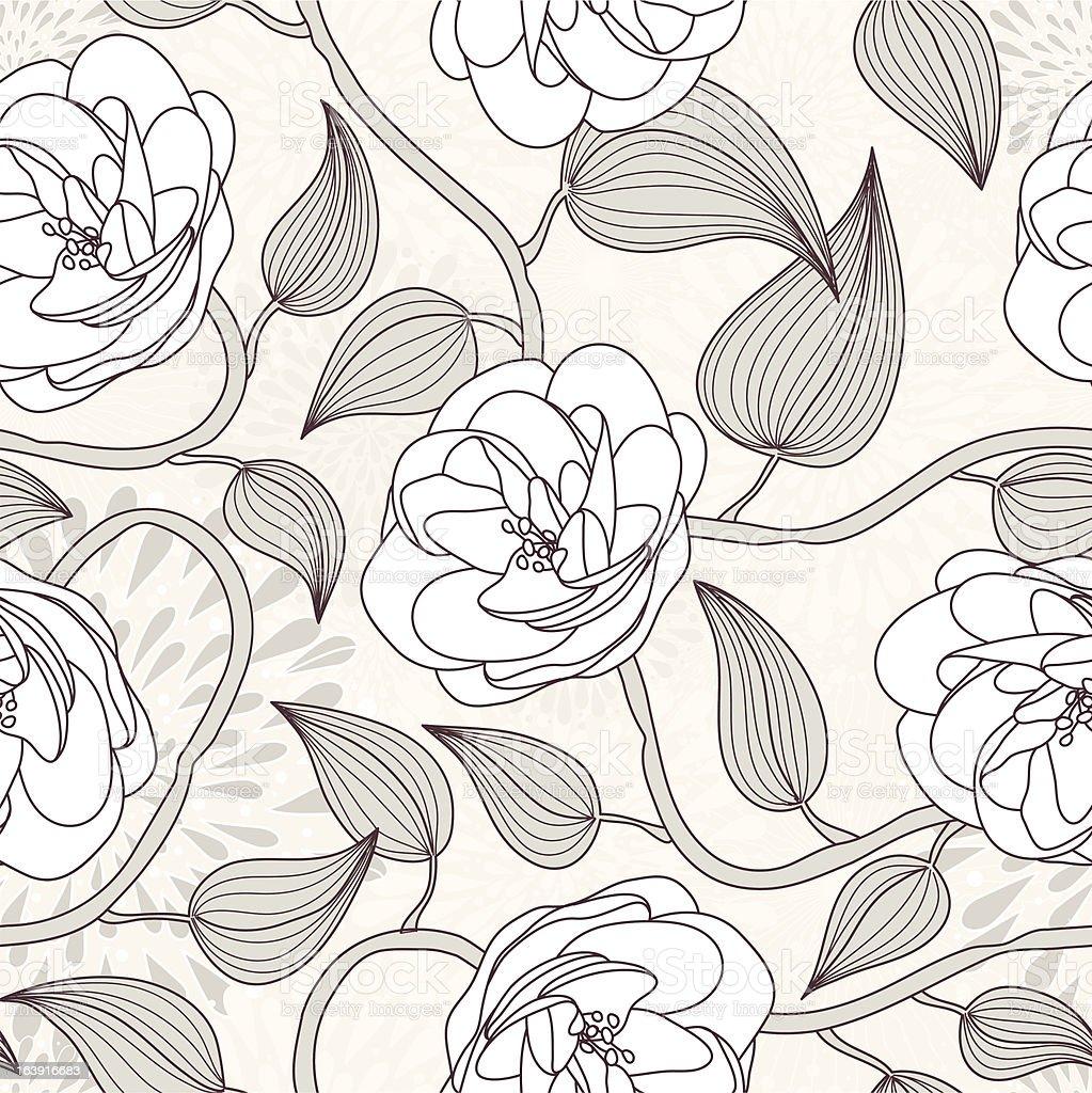 dog rose seamless pattern royalty-free stock vector art