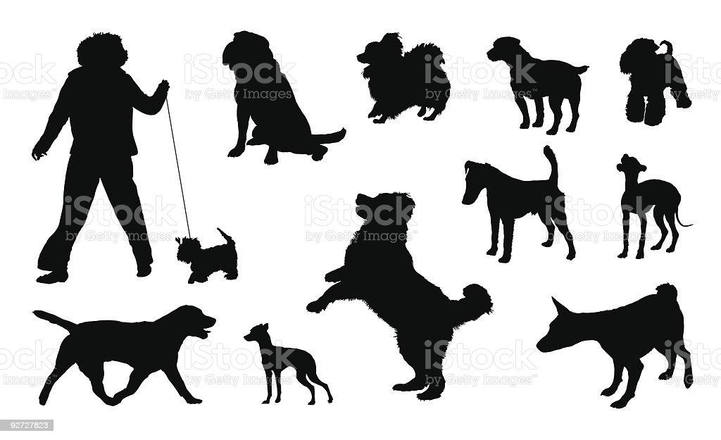 Silhouette de chien - Illustration vectorielle