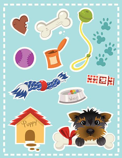 dog stuff - dog treats stock illustrations