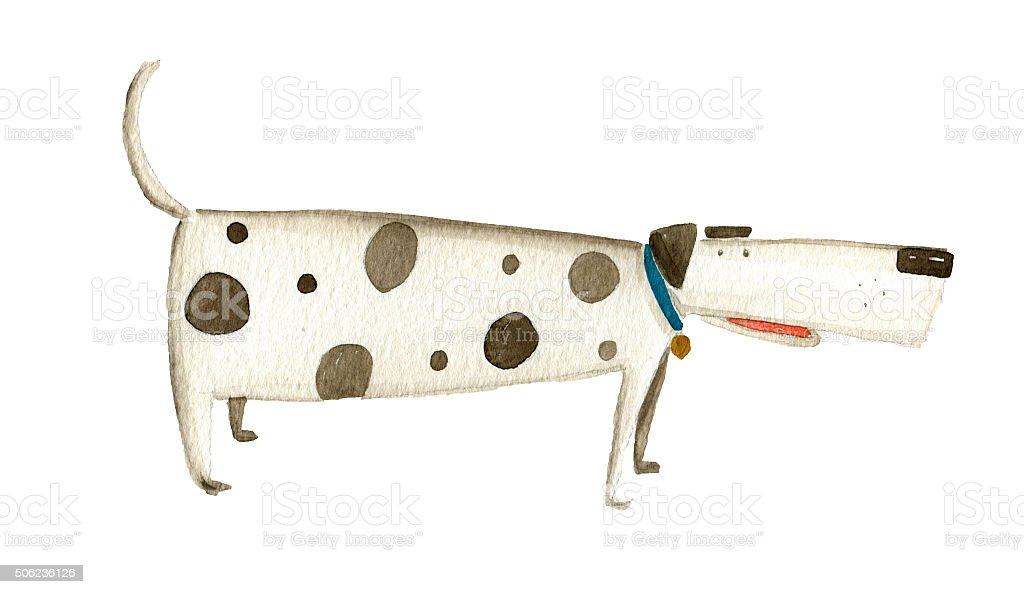 Dog watercolor illustration vector art illustration